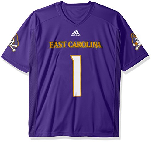 adidas NCAA East Carolina Pirates Adult Men Premier Football Jersey, Large, Purple Purple Premier Football Jersey