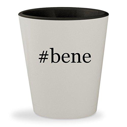 #bene - Hashtag White Outer & Black Inner Ceramic 1.5oz Shot Glass
