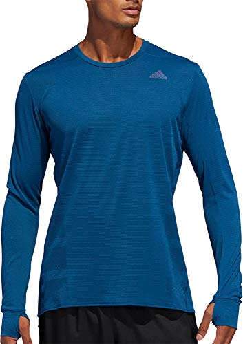 adidas Men's Supernova Running Long Sleeve Shirt(Legend Marine,X-Large)