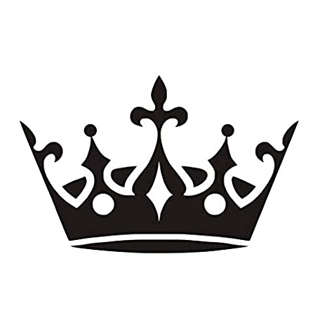 Gran Corona Etiqueta De La Pared De Vinilo Removible Princesa