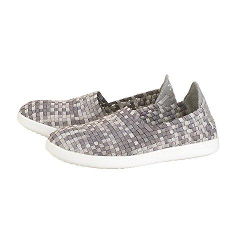 Dude Shoes Womens E-last Simple Beige Fade Slip On Grey & Beige