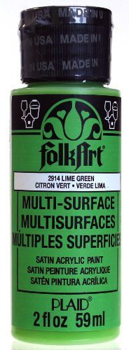 FolkArt Multi-Surface Paint in Assorted Colors (2 oz), 2914, Lime Green ()