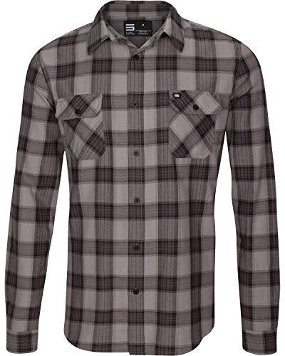 Three Sixty Six Men's Flannels Pewter Grey, XXXL