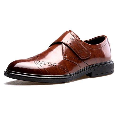 Cuoio degli di da Scarpe Scarpe Piedi Pigre Casuale Uomini Brown YIWANGO Scarpe Abbigliamento Formale Affari Uomo cv1qwHWTn