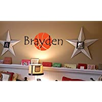 Personalized Monogram Kids Wall Decals - Boys Wall Decal-...