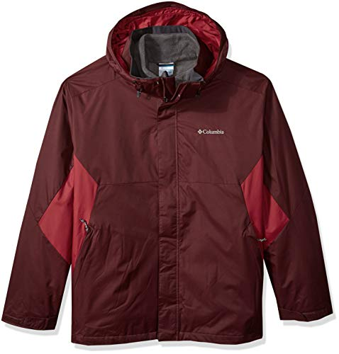 - Columbia Men's Eager Air Big & Tall Interchange Jacket, Elderberry, red Element, XLT