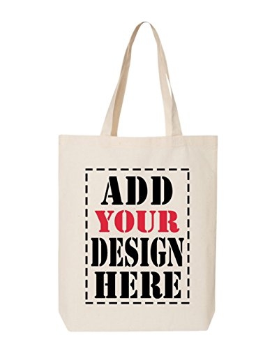 DESIGN YOUR OWN Canvas Tote Bag - Add your Picture Photo Text Print - Reusable%100 Cotton Shopping Bag - Personalized Bag - Custom Canvas Tote]()
