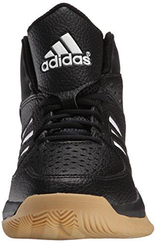 Amazon.com | adidas Performance Men's Court Fury Basketball Shoe,  Black/White/Gum, 9.5 M US | Basketball