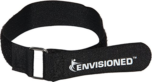 Premium Cinch Straps with Stainless Steel Metal Buckle, Reusable Durable Hook and Loop, Multipurpose Securing Straps 4 Pack - 2'' x 40'' by Envisioned