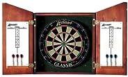Accudart D4223 Union Jack Dartboard Cabinet and Set
