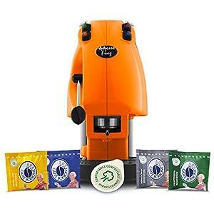 Didiesse Frog Revolution Magica Emozione pack (Macchina da Caffè a Cialde + 60 capsule), 650 W, Arancio 17