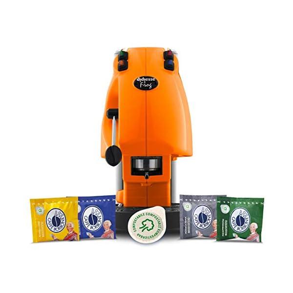 Didiesse Frog Revolution Magica Emozione pack (Macchina da Caffè a Cialde + 60 capsule), 650 W, Arancio 1