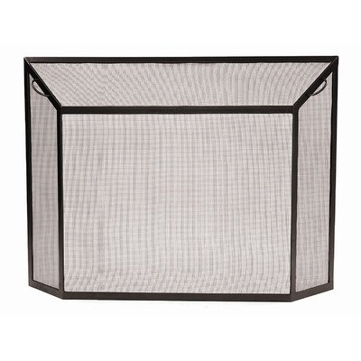 Minuteman Spark Wrought Iron Fireplace Screen Size: Large