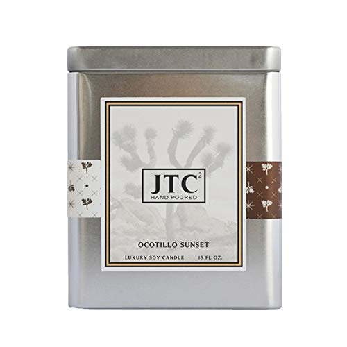 Joshua Tree - Ocotillo Sunset Rectangle Tin Candle by Joshua Tree