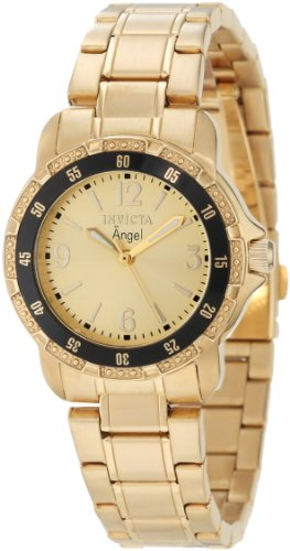 Bracelets Invicta Gold (Invicta Women's 0550 Angel Collection 18k Gold-Plated Stainless Steel Watch)