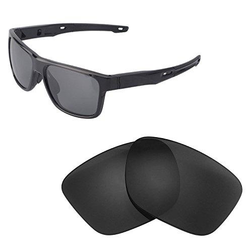 Walleva Replacement Lenses For Oakley Crossrange Sunglasses - Multiple Options available (Black - - Replacement Crossrange Lenses Oakley
