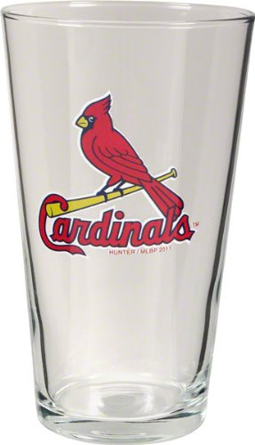 St. Louis Cardinals 3D Logo Pint Glass Cardinals Pint Glass