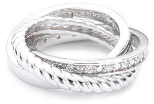 Esprit 44433819170 - Anillo de mujer de plata de ley con circonitas (talla: 14)