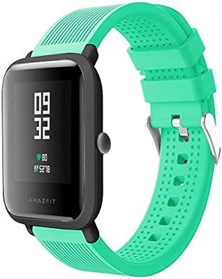 Tabcover para Xiaomi Amazfit Correa,20mm Correa de Repuesto Deportiva de Silicona Suave Correa for Xiaomi Huami Amazfit Bip Younth Smart Watch