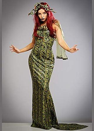 Magic Box Disfraz de Medusa con Estampado de Serpiente Verde para ...