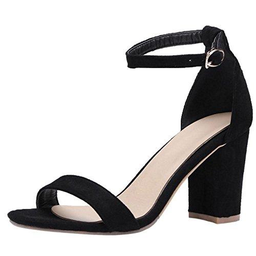 Cinturino alla Donna RAZAMAZA Sandali Black Caviglia ZtwE84wq