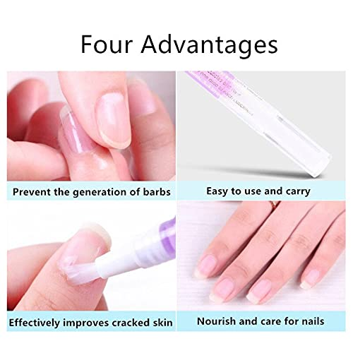 6Pcs Nail Cuticle Oils Nail Nutrition Oil Pen Nail Treatment Pen 6 Smell Cuticle Revitalizer Prevent Agnail Nourish Skin