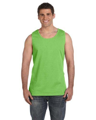 Dyed Cotton Ladies Tank Top - Comfort Colors Ringspun Garment-Dyed Tank (C9360)- LIME, M