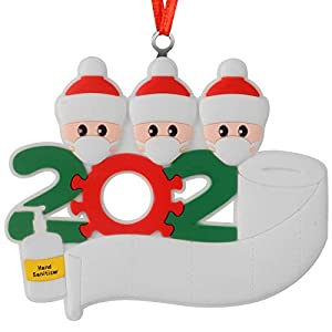 Best Epic Trends 41Pp6OI2gUL._SS300_ Christmas Decorations Indoor, 2020 Christmas Ornament with LED Light Quarantine Survivor Personalized Decorating Gifts…