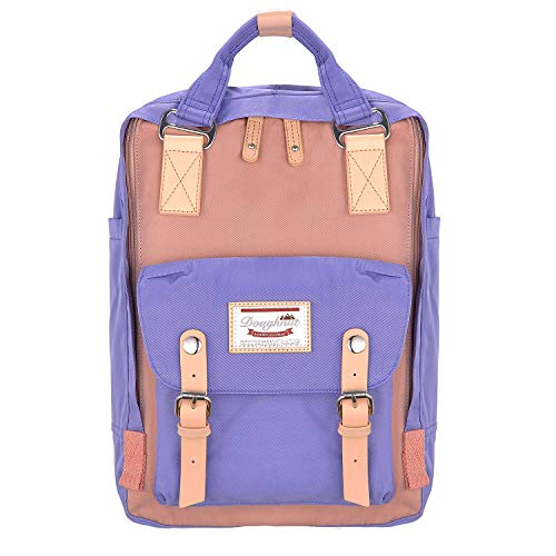 EXCPDT College Backpack, School Computer Laptop Bag Light Weight Business Travel Backpack for Women Girls, High School/College Student, Fits 13-15 inch Laptop (Purple & Pink)