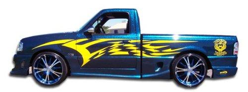 Duraflex Replacement for 1993-1997 Ford Ranger Standard Cab Drifter Side Skirts Rocker Panels - 4 Piece