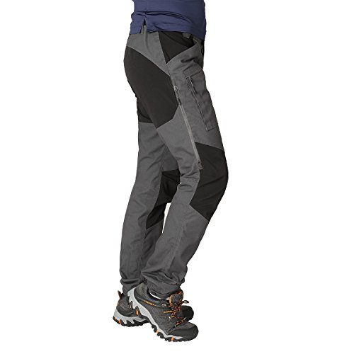 ZOOMHILL Mens Pro Hiking Stretch Pants Cargo Trouser Water-Resistant Tactical Outdoor Working Pants (Dark Grey, M) from ZOOMHILL