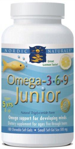 Nordic Naturals Omega 3.6.9. Junior, 180 Soft Gels