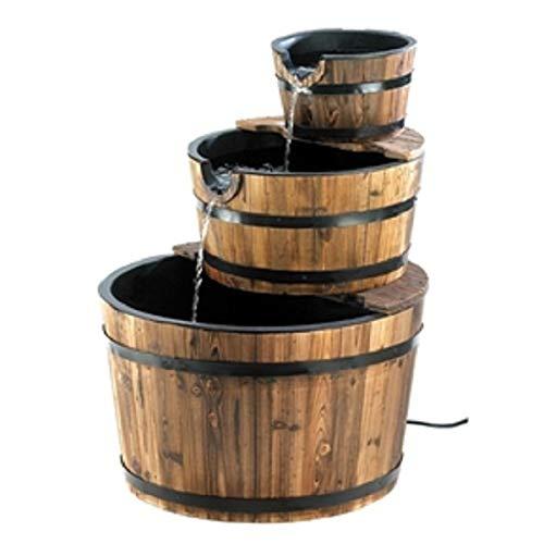 Half Barrel Fountain - CHOOSEandBUY Outdoor Garden 3-Tier Half Barrel Water Fountain New Good Elegant Classic Sturdy