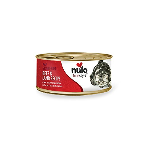 Nulo Adult & Kitten Grain Free Canned Wet Cat Food (Beef & Lamb Recipe, 5.5 Oz, Case Of 24)