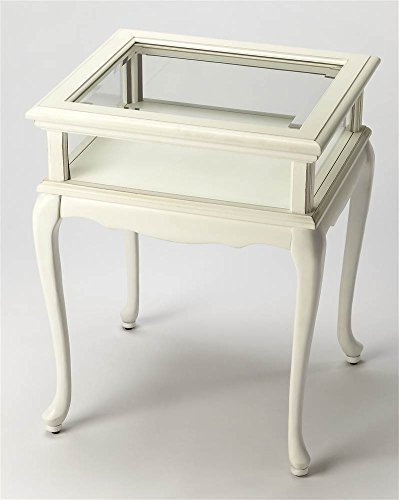 Burton Curio Table in Cottage White Finish by - Butler Curio Wall