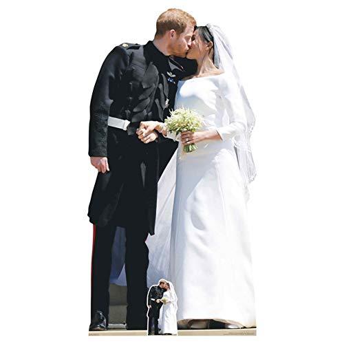 Prince Harry and Princess Meghan Wedding Life Size Cardboard Cutout Standup SC2076 -