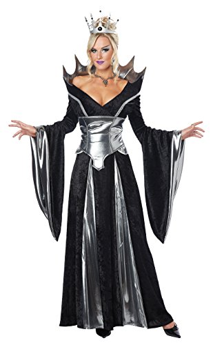 California Costumes Women's Malevolent Queen Costume, Black/Silver, Small -