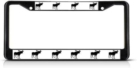 Turtles Animal Black License Plate Frame Tag Holder Four Holes