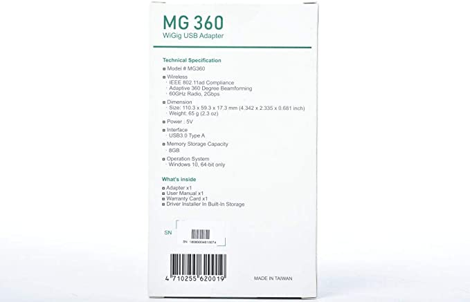 Match R9000 XR700 SeeedStudio Millitronic MG360 WiGig IEEE802.11ad 60GHz USB3.0 Adapter//Dongle