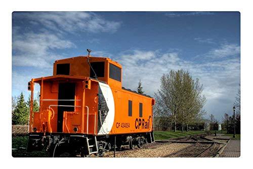 Tree26 Indoor Floor Rug/Mat (23.6 x 15.7 Inch) - City Park Caboose Rail Car Train Quiet -