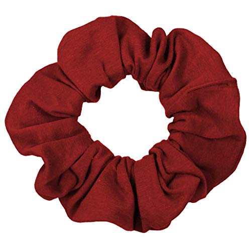 Scrunchies Premium Cotton T-Shirt Knit Jersey Ponytail Holders Choose Sizes Many Colors Scrunchie KingMade in USA ()