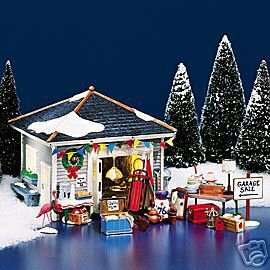 Department 56 - The Original Snow Village - ''..Another Man's Treasure'' Garage (set of 22)