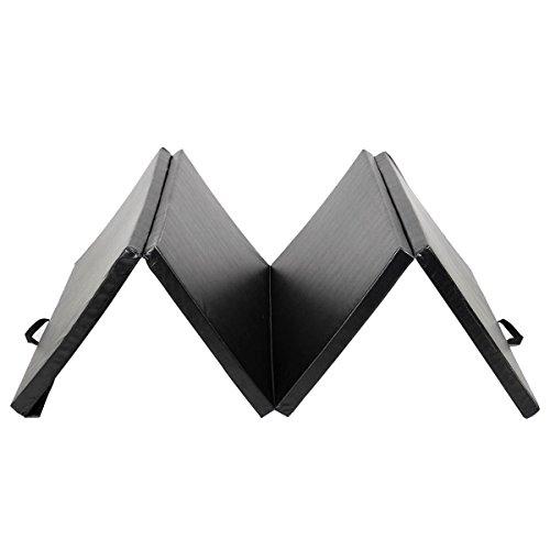 New Black 4'x8'x2'' Thick Folding Panel Gymnastics Mat Gym Fitness Exercise Mat by Yoga Mats (Image #3)