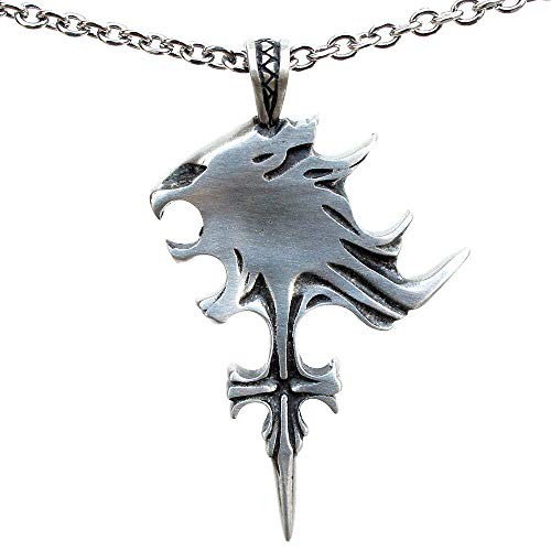 OhDeal4U Squall Leonhart FF8 Final Fantasy 8 Pewter Pendant Necklace (Stainless Steel Chain)