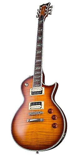 ESP LTD EC Series EC-1000 Flamed Maple Top Electric Guitar with Seymour Duncans - Amber Sunburst