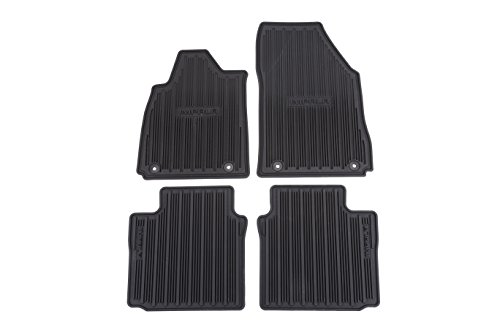 GM Accessories 22759780 Front and Rear All-Weather Floor Mats in Black with Deep Rib and Impala Logo by General Motors