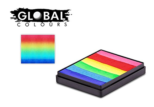 Global Body Art Face Paint - Rainbow Cake Bright Rainbow 50gr ()