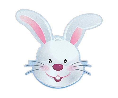 Happy Easter Peel - Magnetic Bumper Sticker - Easter Bunny (Happy Easter) - Bunny Shaped Magnet - 5