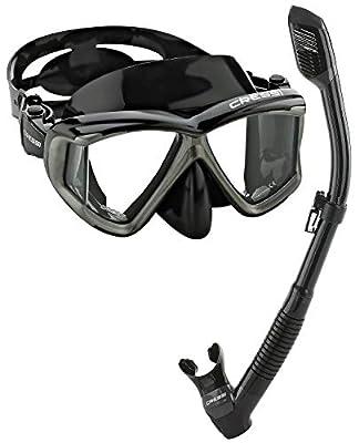 Cressi Panoramic Wide View Mask Dry Snorkel