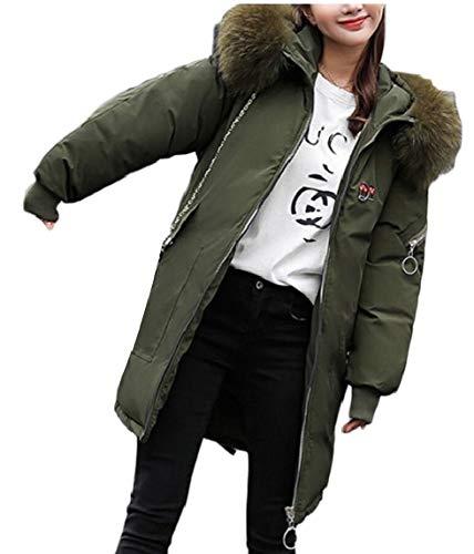 Outwears Long Down Fur EKU Hoodies 3 Women Coat Jacket Thickened EttAq